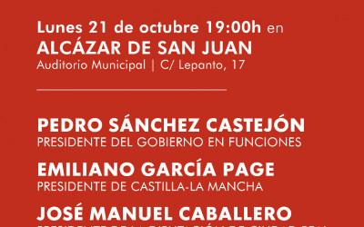 Pedro Sánchez en Alcázau de San Juan